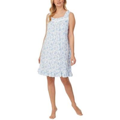 エイレーンウェスト レディース ナイトウェア アンダーウェア Cotton Knit Sleeveless Short Gown
