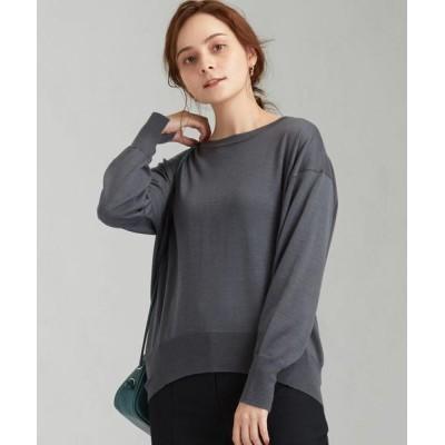 green label relaxing / [手洗い可能] FFC ボートネック プルオーバー ニット WOMEN トップス > ニット/セーター