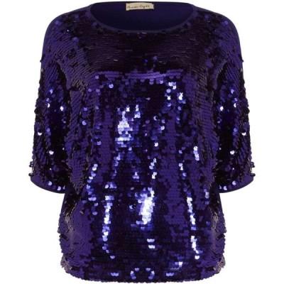 フェイズ エイト Phase Eight レディース ニット・セーター トップス Alessa Sequin Panel Knit Top Purple