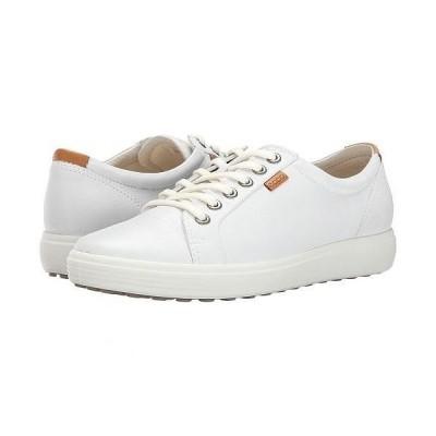 ECCO エコー レディース 女性用 シューズ 靴 スニーカー 運動靴 Soft 7 Sneaker - White/White