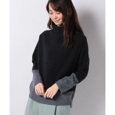 【ラピーヌ ブランシュ】12G ウールカシミヤ タートルネックセーター