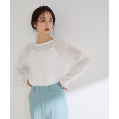 tシャツ Tシャツ 【洗える】カールマイヤー楊柳シアーロングスリーブT