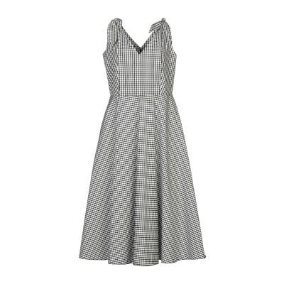 I BLUES 7分丈ワンピース・ドレス ブラック 44 コットン 67% / ポリエステル 33% 7分丈ワンピース・ドレス