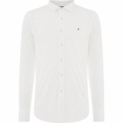 リプレイ Replay メンズ シャツ トップス Cotton Poplin Shirt White