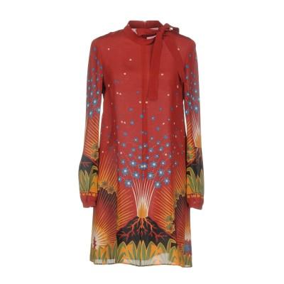 ヴァレンティノ VALENTINO ミニワンピース&ドレス レッド 40 シルク 100% ミニワンピース&ドレス
