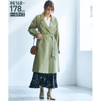 トールサイズ テーラードコート(共布ベルト付) 【高身長・長身】コート, tall size, Coat