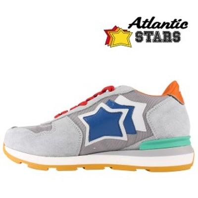 【39】 Atlantic Stars アトランティックスターズ スニーカー ANTARES ASA-50T メンズ 星柄 グレー 灰色 レザー 並行輸入品