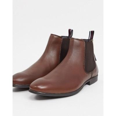 ベンシャーマン メンズ ブーツ&レインブーツ シューズ Ben Sherman chelsea boots in brown leather Brown