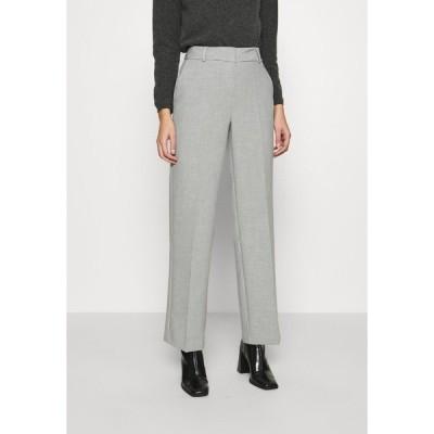 セレクテッドフェム カジュアルパンツ レディース ボトムス SLFRITA WIDE PANT - Trousers - light grey melange
