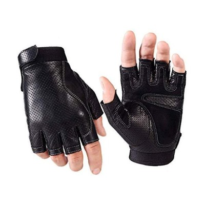 FENXIXI Gloves,Half Finger Gloves Men's Autumn and Winter Thin Driving Fitn
