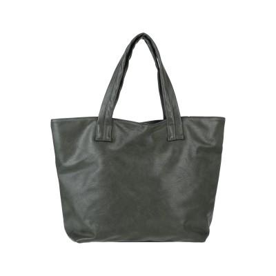 ZUCCA ハンドバッグ ダークグリーン 紡績繊維 ハンドバッグ