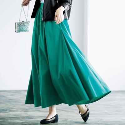 Ranan ラナン 綿100%フレアーマキシスカート
