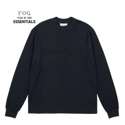 エフオージー エッセンシャルズ 長袖Tシャツ FOG ESSENTIALS FEAR OF GOD FRONT LOGO LS TEE ロゴTシャツ ロンT クルーネック メンズ BLACK ブラック