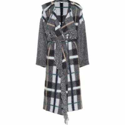ステラ マッカートニー Stella McCartney レディース コート アウター Checked wool and mohair-blend coat grey colourway