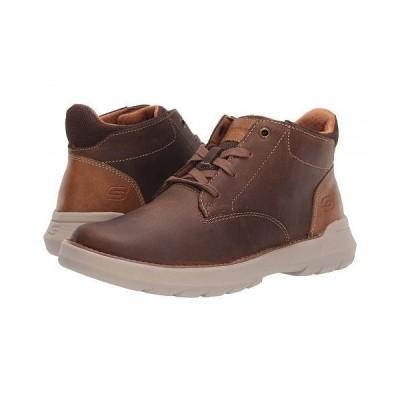 SKECHERS スケッチャーズ メンズ 男性用 シューズ 靴 ブーツ チャッカブーツ Relaxed Fit Doveno - Molens - Dark Brown