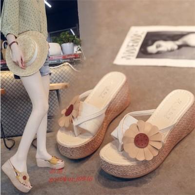 サンダル ミュール 歩きやすい 厚底 レディース 美脚 夏 海 リゾート 靴7cmヒール カジュアル サマーサンダル 可愛い コンフォートサンダル PU 履きやすい