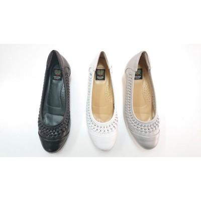 ゴールデンフット レディースシューズ 6044  メッシュ フラットシューズ 婦人靴