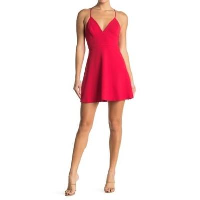 BCBジェネレーション レディース ワンピース トップス Strappy V-Neck Dress RIBBON RED