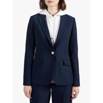 テッドベーカー ジャケット&ブルゾン レディース アウター Ted Baker Rrae Slim Tailored Jacket, Blue Navy