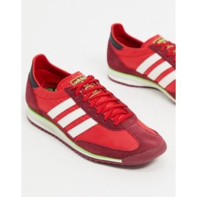 アディダス メンズ スニーカー シューズ adidas Originals SL 72 sneakers in red