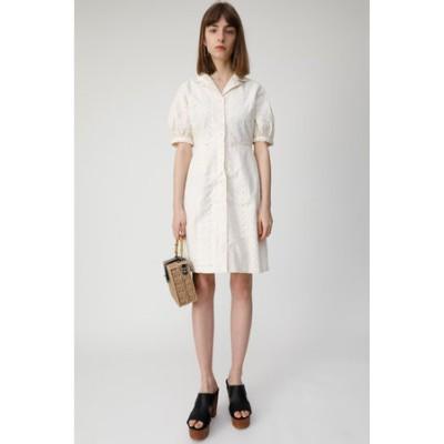 COTTON EMBROIDERY MINI ドレス