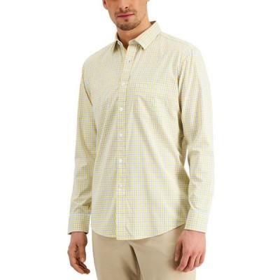 クラブルーム メンズ シャツ トップス Men's Performance Plaid Shirt with Pocket