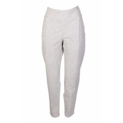 HEATHER  ファッション パンツ Ny Collection Petite Plus Size Light Grey Heather Ponte-Knit Pull-On Pants 1XP