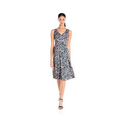 ドレス アンクライン Anne Klein レディース ドレス・ワンピース 604614 Draped ドレス W/ Pleat Front. Peony/garden Green