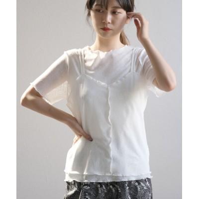 ANDJ / シアーメロウトップス&キャミソール2点セット WOMEN トップス > Tシャツ/カットソー