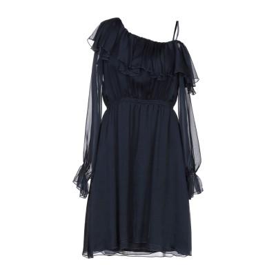 カオス KAOS ミニワンピース&ドレス ダークブルー 40 シルク 100% ミニワンピース&ドレス