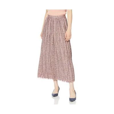 [リリーブラウン] ツイードプリーツスカート LWFS194058 レディース (レッド Free Size)