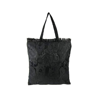 [絵都蘭世]フォーマル手提げバッグ 花柄 5104 黒