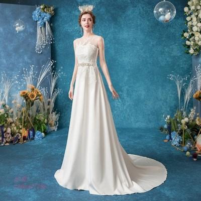 ウエディングドレス ウェディングドレス ドレス 結婚式 二次会 花嫁 ロングドレス 白ドレス ホワイト 安い 披露宴 トレーン ブライダル ウェディング