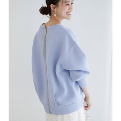 ビス ViS 【モイストスフレタッチ】バックフルジッププルオーバー (ブルー(44))