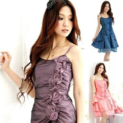 縦バラ パーティードレス カラードレス 大きいサイズ レディース 激安ドレス フォーマル 送料無料 dr000002