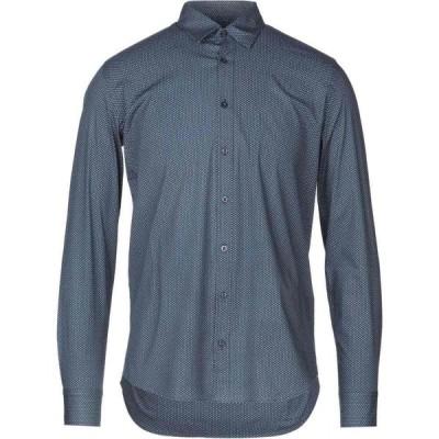 ハマキホ HAMAKI-HO メンズ シャツ トップス patterned shirt Dark blue