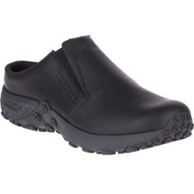 メレル メンズ スリッポン・ローファー シューズ Jungle Slide Air Cushion+ PRO Work Shoe Black Waterproof Full Grain Leather