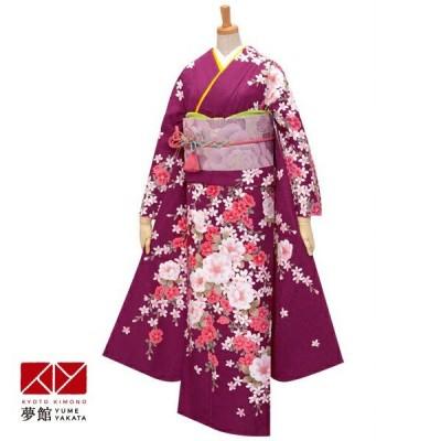 2〜11月利用 結婚式 振袖 レンタル 紫 椿と花の調べ(R1767) 対応身長155〜164cm R308