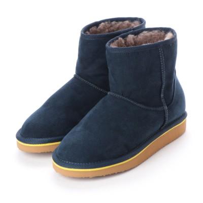 シューズラウンジ shoes lounge ショートブーツ 3650004NV (ネイビー)