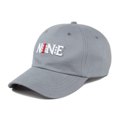 ナインルーラーズ キャップ NINE RULAZ LINE ボールキャップ 帽子 Logo Sports Cap グレー