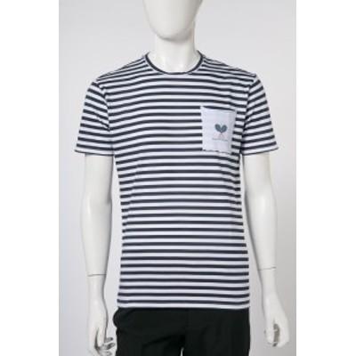 ダニエレアレッサンドリーニ DANIELEALESSANDRINI Tシャツ ホワイト×ブルー メンズ (M6573E6793800) 送料無料 目玉商品
