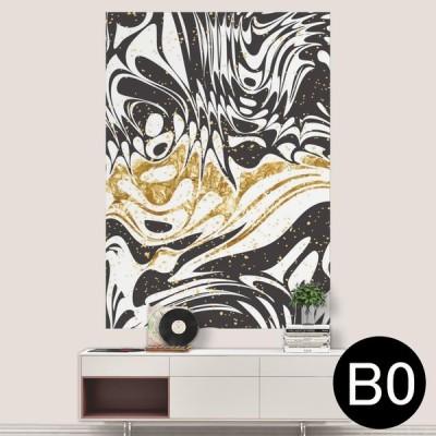 ポステッカー ポスター ウォールステッカー シール式ステッカー 飾り 1030mm×1456mm B0 写真 フォト 壁 マーブル モノトーン 白黒 012556