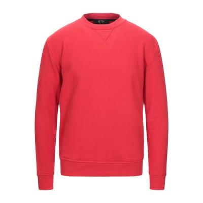 ヌメロ ヴェントゥーノ N°21 スウェットシャツ レッド XXS コットン 100% スウェットシャツ