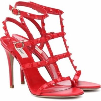 ヴァレンティノ Valentino レディース サンダル・ミュール シューズ・靴 garavani rockstud leather sandals Rouge Pur