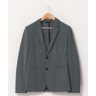 ジャケット テーラードジャケット エキストラスリムフィットジャケット パターン柄ストレッチ素材