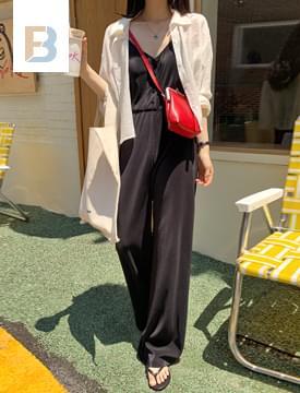 韓國空運 - pleated button jumpsuit 長褲