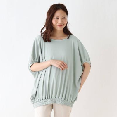 シューラルー SHOO-LA-RUE テレコドルマンビックTシャツ (ダークグリーン)