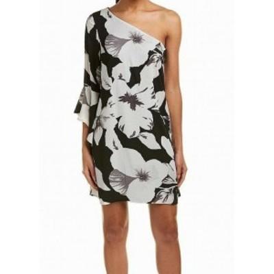 CeCe  ファッション ドレス CeCe NEW White Womens Size 4 Floral-Print Bell-Cuff Shift Dress