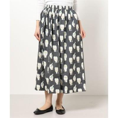 スカート ソウガラギャザースカート