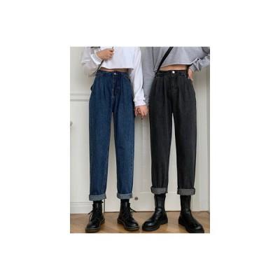 【送料無料】秋 デザイン 感 古い ? パンツ 韓国風 ハイウエストのジーンズ 女 | 346770_A63742-6271138